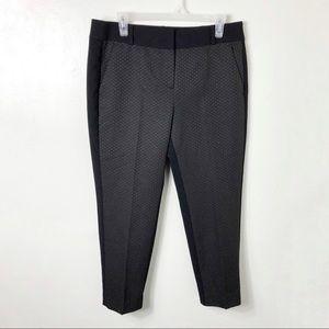 LOFT Marisa Cropped Straight Leg Print Front Pants